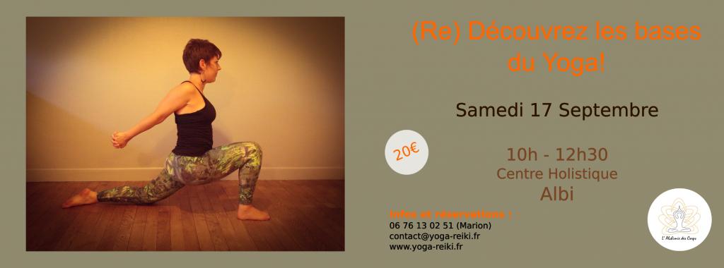Découvrez les bases du Yoga à Albi le samedi 27 septembre