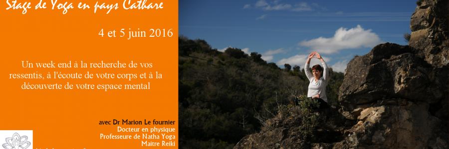Stage de yoga en pays cathare – 4 et 5 Juin 2016 – 20mn de Carcassonne