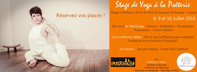 Stage de Yoga à la Poèterie – 9 et 10 Juillet 2016 – Village d'artiste à 1h30 de Paris