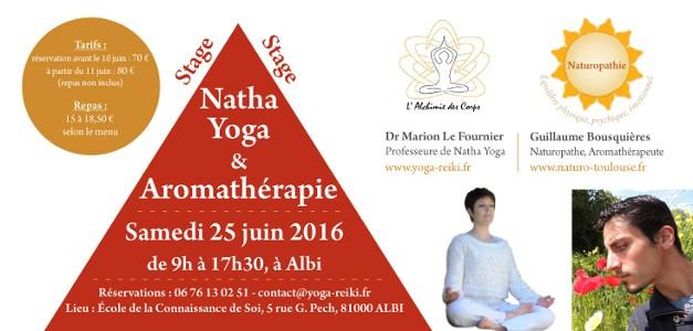 Stage : Natha Yoga et Aromathérapie à Albi le 25 Juin 2016
