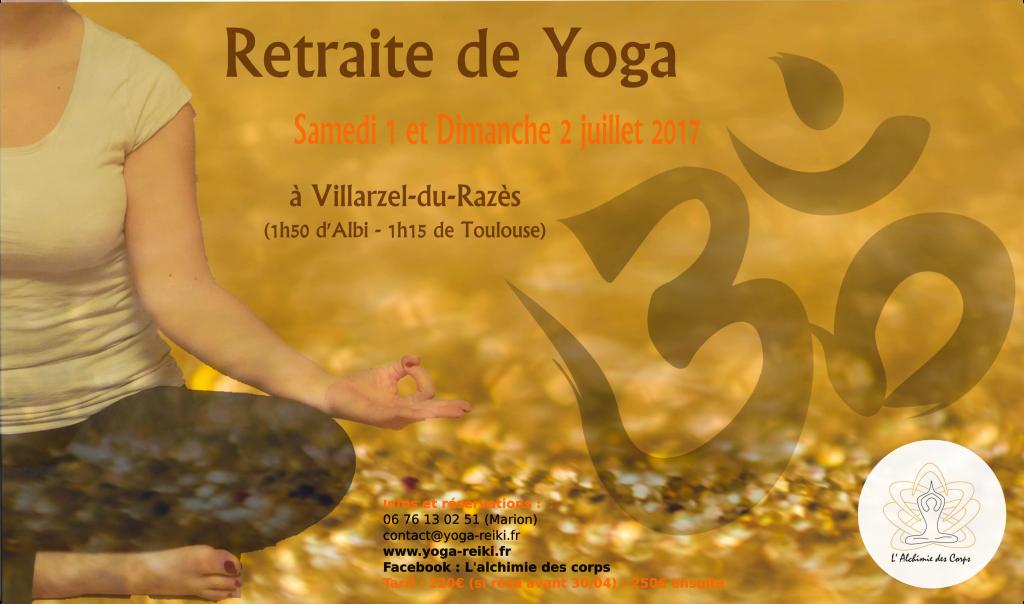 Retraite Yoga Toulouse Albi Carcasonne Juillet 2017