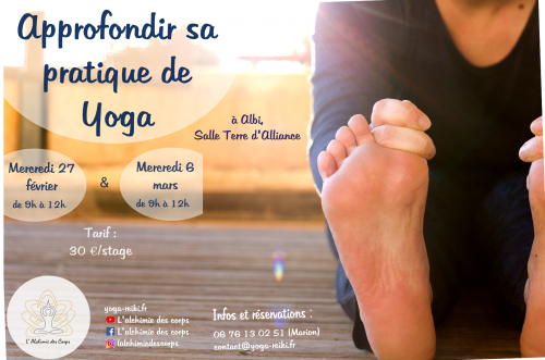 Stage approfondir sa pratique de Yoga